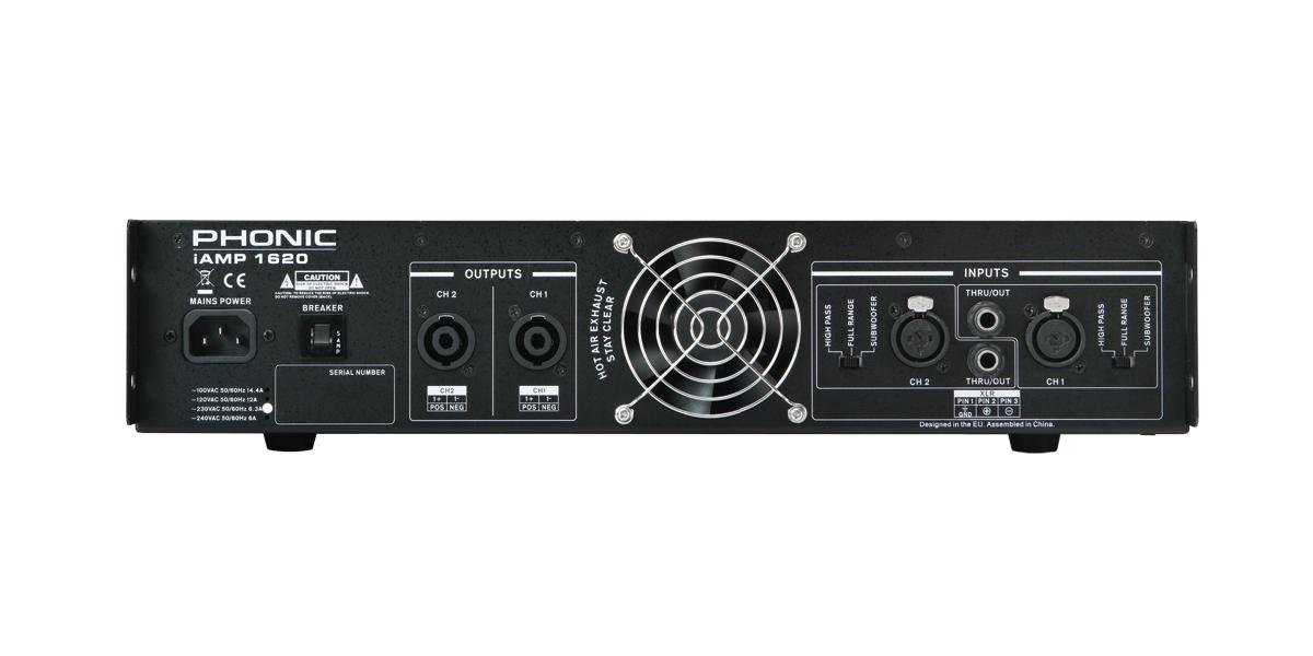 Phonic Power Amplifier Iamp 1620 Madison