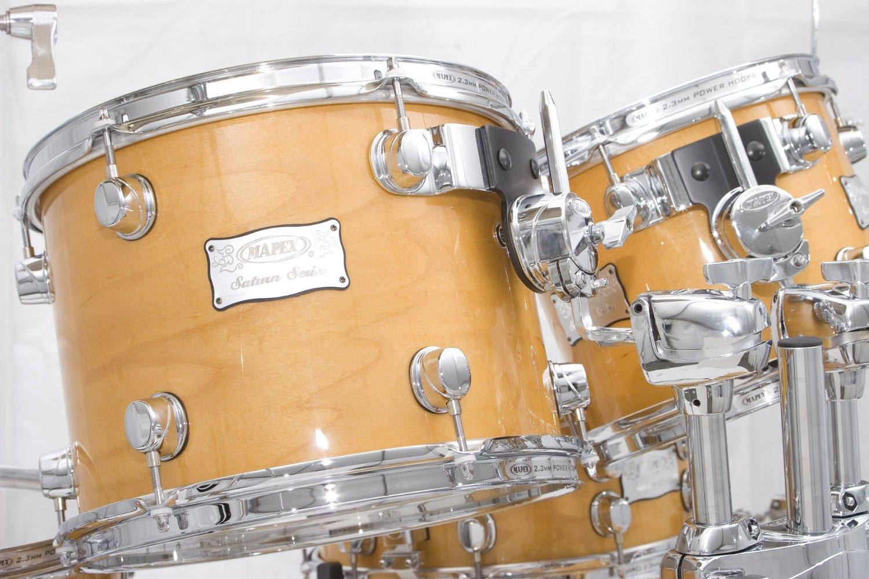 Mapex Saturn Plus Bass Fusion Pop 7 Piece Drum Set Madison
